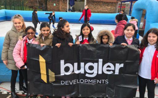 BUGLER SPONSORS ICE RINK AS XMAS TREAT FOR LOCAL SCHOOL